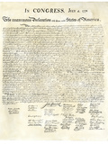 American Declaration of Independence, c.1776 - Giclee Baskı