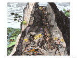 Natives Working in the Spanish Mines of Mexico Giclee Print