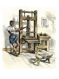 Stephen Daye's Press, the First Printing Press in America, Cambridge, Massachusetts, c.1640 Giclee Print