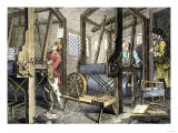 Weaving at Spitalfields, England, c.1700 Giclee Print