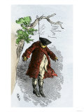 Effigy of a Stamp Act Official Hung by Protesting Colonials, c.1765 Giclee Print