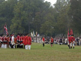 American, French, and British Armies on the Field in a Reenactment of the Surrender at Yorktown Photographic Print