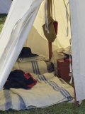British Soldier&#39;s Tent, Revolutionary War Reenactment at Yorktown Battlefield, Virginia Photographic Print