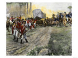 British Wagon-Train Ambushed by Francis Marion in South Carolina during the Revolutionary War Giclee Print