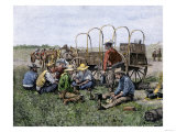 Chuck Wagon Serving Cowboys Their Midday Meal Giclee Print