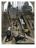 Women Screening Coal Coming Out of a Mine in England, c.1800 Giclee Print