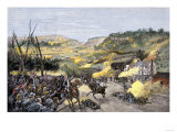 Confederates Driven from Elkhorn Tavern in the Battle of Pea Ridge, Arkansas Giclee Print