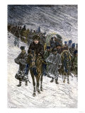 Winter Retreat of Napoleon and the French Army from Moscow in 1812 Giclee Print