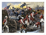 Americans Capturing a British Redoubt during the Battle of Yorktown, c.1781 Giclee Print