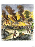 Burning of Deerfield, Massachusetts, during an Indian Attack, c.1704 Premium Giclee Print