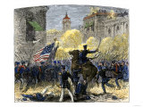 General Zachary Taylor Attacking Monterey, Mexico, c.1846 Giclee Print
