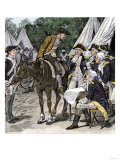 General Washington is Brought the News That the British Had Crossed the Brandywine, c.1777 Giclee Print