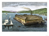Salmon Cannery on the Pacific Coast at Astoria, Oregon, c.1880 Giclee Print