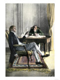 Benjamin Franklin and Richard Oswald in Paris Discussing the Peace Treaty Giclee Print