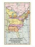 Map of the United States at the Close of the American Revolution, c.1783 Giclee Print