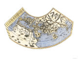 Ptolemy's Map of the World, Illustrating a Concept of the Flat Earth Giclee Print