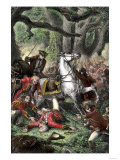 Defeat of British General Edward Braddock En Route to Fort Duquesne, c.1755 Giclee Print
