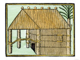 Native House on Hispaniola, c.1500 Giclee Print