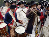 British Fife and Drum Corps Takes the Field in a Reenactment of the Surrender at Yorktown Photographic Print