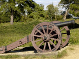 Revolutionary War Cannon Atop a Redoubt at Yorktown Battlefield, Virginia Photographic Print
