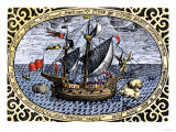 Victoria, One of Magellan's Fleet Which Circumnavigated the Earth, c.1519-1520 Giclee Print