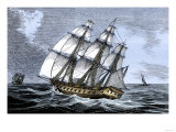 American Frigate Alliance in 1778, Which Carried Lafayette on Two Occasions Premium Giclee Print