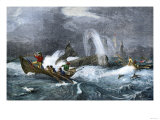 South Sea Whaling Premium Giclee Print