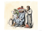 Scribes Using the Stylus and Other Means of Writing in Ancient Times Giclee Print