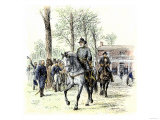 General Robert E. Lee Leaving the McLean House after the Confederate Surrender at Appomattox Reproduction procédé giclée
