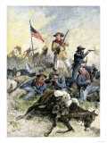 Custer's Last Stand at the Little Big Horn River, Montana, c.1876 Premium Giclee Print