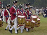 British Drummer Boys in a Reenactment of the Surrender at Yorktown Battlefield, Virginia Photographic Print