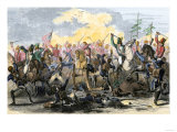 Battle of Waxhaw, South Carolina during the American Revolutionary War, May 29, 1780 Giclee Print