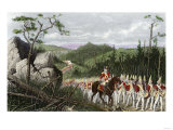 British General Braddock Marching to Fort Duquesne in the French and Indian War, c.1755 Giclee Print