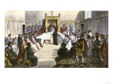 Trial for Heresy during the Spanish Inquisition Giclee Print
