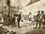 Spanish Armada's Admiral Surrenders His Sword to Francis Drake, c.1588 Photographic Print