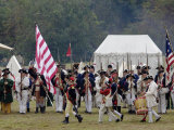 Continental Army Muster Reenactment at Yorktown Battlefield, Virginia Photographic Print