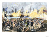 British Attack on Fort Moultrie in Charleston Harbor, c.1776 Giclee Print