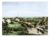 Retreat of the British from Concord, Massachusetts, at the Outset of the American Revolution Giclee Print