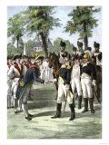General Washington Introduced to Comte de Rochambeau, Commander of French Forces Allied with U.S Giclee Print