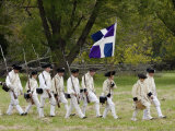 French Army Reenactors March to the Surrender Ceremony at Yorktown Battlefield, Virginia Photographic Print