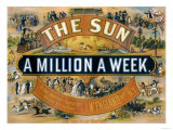 Ad for the New York Sun, a Weekly Newspaper, c.1880 Lámina giclée