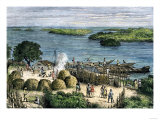 African Explorer Henry Stanley's Camp on the Congo River, c.1870 Giclee Print