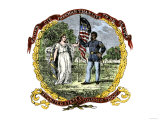 Banner of the Third U.S. Colored Troops, an African-American Regiment in the Civil War Giclee Print
