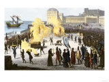 Burning Bishops at the Stake during the Spanish Inquisition Giclee Print