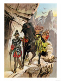 Francisco Pizarro Expedition Ascending the Andes to Conquer the Inca Empire in Peru Premium Giclee Print