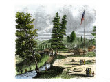 Sutter's Mill, Site of James Marshall's Discovery of Gold in California, c.1848 Giclee Print