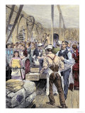 Textile Workers in a Northern Mill, 19th Century Giclee Print