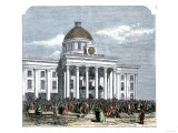 Jefferson Davis Inaugurated as President of the Confederate States of America, c.1861 Giclee Print