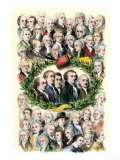 Portraits of the Signers of the Declaration of Independence, Philadelphia, c.1776 Premium Giclee Print