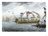 Marco Polo Leading the Venetian Ships at Korcula in the Adriatic Sea Giclee Print